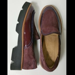 Naturalizer Wine Suede Patent Leather Sz 6 6.5 N
